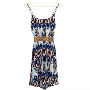 Tyche Womens Abstract/Aztec Sleeveless Dress